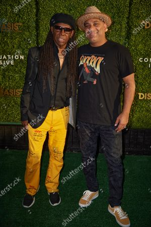 Stock Image of Nile Rodgers and Russell Peters