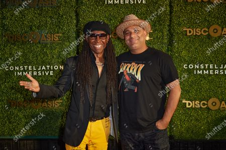 Stock Picture of Nile Rodgers and Russell Peters