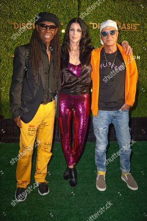 Stock Photo of Nile Rodgers, Liberty Ross and Jimmy Lovine