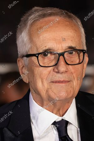 Marco Bellocchio, winner of the honorary Palme d'Or, poses for photographers during the awards ceremony at the 74th international film festival, Cannes, southern France