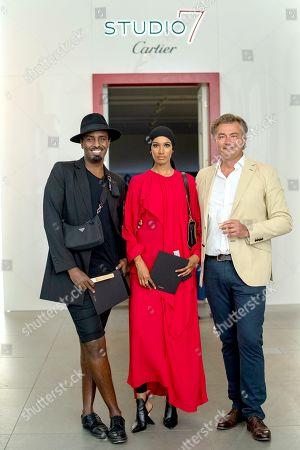 Mason Smillie, Ikram Abdi Omar and Laurent Feniou