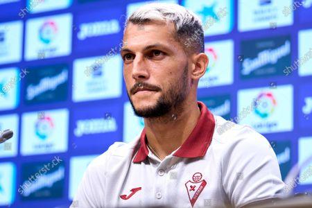 Juan Diego Molina 'Stoichkov' during his presentation as a new player of SD Eibar at Ipurua Stadium on Jul 22, 2021 in Eibar, Spain.