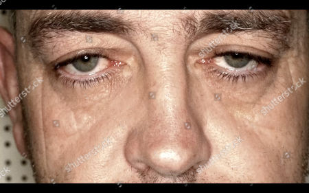 Close up of Andrew Jones eyes. Andrew Jones was found guilty of killing Michael O'Leary after a trial at Swansea Crown Court