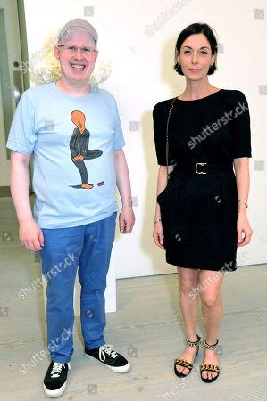 Stock Photo of Matt Lucas and Mary McCartney