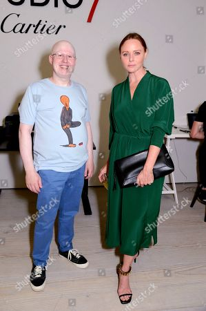 Stock Image of Matt Lucas and Stella McCartney