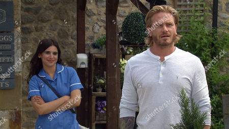 Emmerdale - Ep 9115 Monday 2nd August 2021  Keen to shift Leyla Cavanagh from her life Meena Jutla, as played by Paige Sandhu, match makes again between Liam Cavanagh, as played by Jonny McPherson, and Leyla - but will it work?