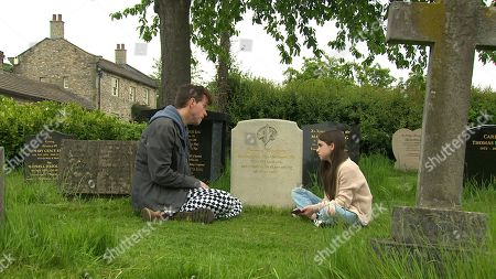 Emmerdale - Ep 9110 Tuesday 27th July 2021  Intent on ridding April Windsor, as played by Amelia Flanagan, of the bullies once and for all, Marlon Dingle, as played by Mark Charnock, takes her phone and deletes all her social media accounts.