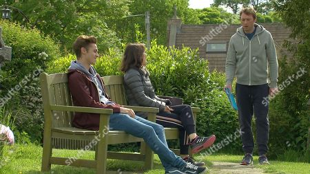 Emmerdale - Ep 9110 Tuesday 27th July 2021  Liam Cavanagh, as played by Jonny McPherson, won't engage with Leyla Cavanagh, as played by Rokhsaneh Ghawam-Shahidi, and Jacob Gallagher, as played by Joe Warren-Plant, over Leanna's funeral arrangements and he berates Leyla for her and Jacob's overblown ideas telling her he'll be arranging things himself from now on.