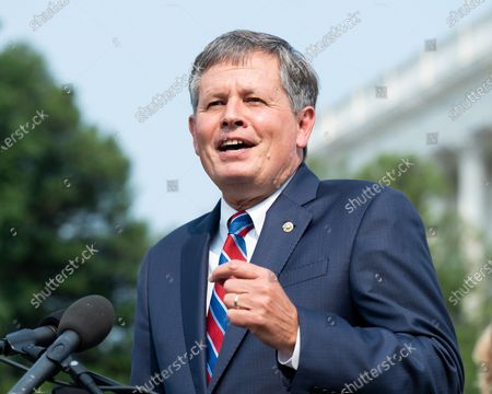 U.S. Senator, Steve Daines (R-MT) speaking at a press conference about the introduction of anti-abortion legislation at the U.S. Capitol.