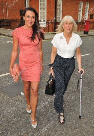 Stock Photo of Michelle Heaton and her mother