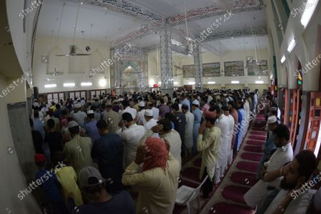 Editorial photo of Devotees attend Eid al-Adha at Jamia Naeemia Mosque, Lahore, Punjab, Pakistan - 21 Jul 2021