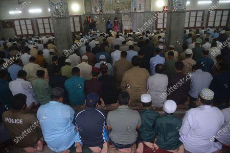 Editorial image of Devotees attend Eid al-Adha at Jamia Naeemia Mosque, Lahore, Punjab, Pakistan - 21 Jul 2021