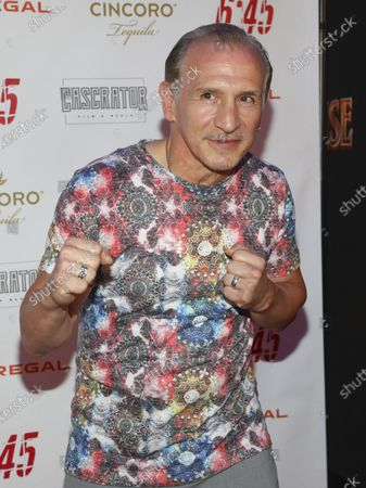 """Stock Image of Boxer Ray Mancini attends the premiere of """"6:45"""" at Regal Union Square, in New York"""