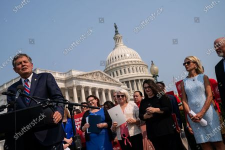 Editorial photo of Reps. Miller and Roy and Sen. Daines Introduce Anti-Abortion Legislation on Capitol Hill, Capitol Hill, Washington, Dc, United States - 21 Jul 2021