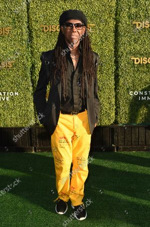 Nile Rodgers arrives at the DiscOasis VIP event, at South Coast Botanic Garden in Los Angeles