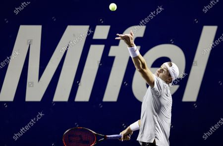 Stock Picture of John Isner of the USA in action against Alex Bolt of Australia during their quarterfinals match at the Los Cabos Open tennis tournament in Los Cabos, Baja California Sur, Mexico, 22 July 2021.