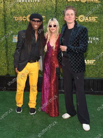 Nile Rodgers, Gela Nash-Taylor and John Taylor