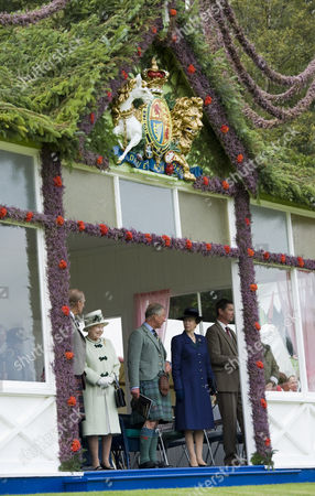 Prince Philip, Queen Elizabeth II, Prince Charles, Princess Anne and Timothy Lawrence