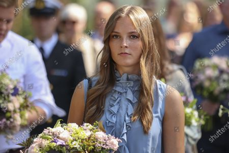 Norway's Princess Ingrid Alexandra attends a memorial service for the victims of the 2011 terrorist attacks, on Utoya, outside Oslo, Norway, 22 July 2021. Norway is commemorating the event that killed 77 people at the Government Office Complex in Oslo and on the island of Utoya. National memorial events will be held throughout the day in Oslo and in the municipality of Hole.