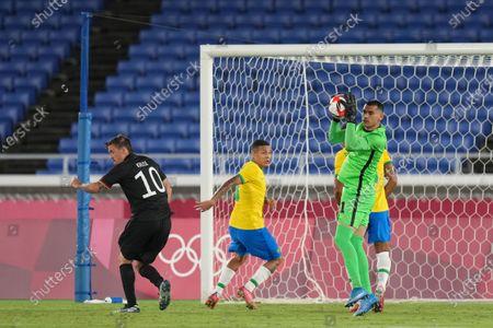 Editorial photo of Brazil v Germany, international football, Group D, Tokyo Olympic Games 2020, International Stadium Yokohama, Japan - 22 Jul 2021