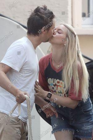 Exclusive - Matt Bellamy kisses Elle Evans