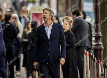 Dutch former soccer goalkeeper Edwin van der Sar arrives for the private farewell to Peter R. de Vries in Royal Theater Carre in Amsterdam, The Netherlands, 22 July 2021. The crime reporter died of his injuries on 15 July 2021, after he was shot in the center of Amsterdam on 06 July 2021, shortly after a broadcast of RTL Boulevard where he had been a guest. He was 64 years old. De Vries, was acting as a counsellor to a crown witness in the so-called Marengo trial.