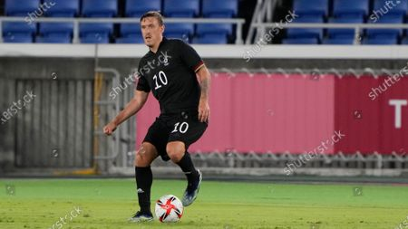 Stock Picture of Germany's Max Kruse during a men's soccer match against Ivory Coast at the 2020 Summer Olympics, in Yokohama
