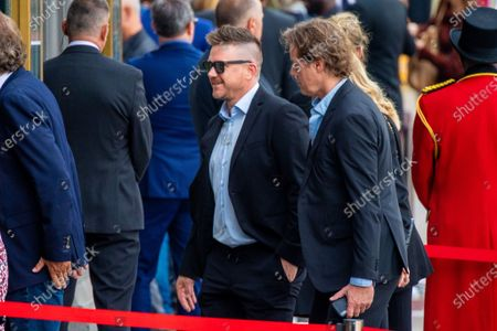 Johnny de Mol attending the private farewell for Peter R de Vries, a well known Dutch journalist.