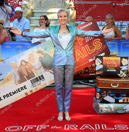 Stock Picture of Jenny Seagrove attends the world premiere of the movie 'Off The Rails' at Leicester Square in London, Britain, 22 July 2021.