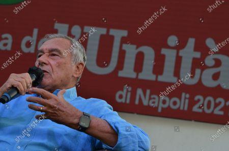 """Ex anti-mafia Magistrate,  Senator Italian Parliament, Pietro Grasso guest at """" Festa dell' Unità"""", political Kermesse organized in racecours Agnano."""