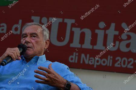 """Editorial picture of Senator Pietro Grasso guest at """"Festa dell'Unità"""", Naples, Campania, Italy - 22 Jul 2021"""