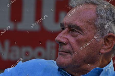 """Stock Photo of Ex anti-mafia Magistrate,  Senator Italian Parliament, Pietro Grasso guest at """" Festa dell' Unità"""", political Kermesse organized in racecours Agnano."""