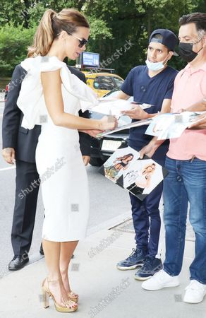 Kate Beckinsale arriving back from The Tonight Show Starring Jimmy Fallon