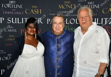 Paul Loup Sulitzer and Massimo Gargia On the Birthday of Paul Loup Sulitzer at the Hotel de Paris in Saint Tropez.