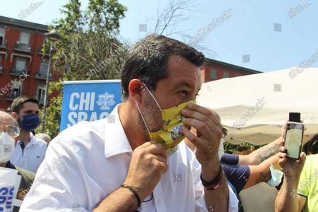 Editorial photo of Matteo Salvini in Naples, Italy - 22 Jul 2021
