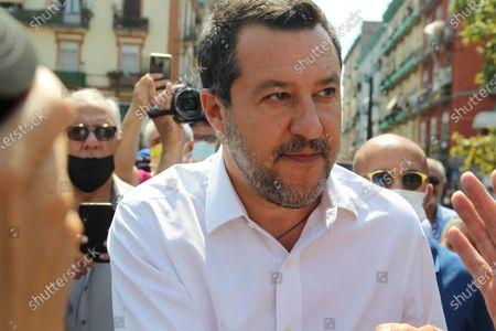 Editorial image of Matteo Salvini in Naples, Italy - 22 Jul 2021