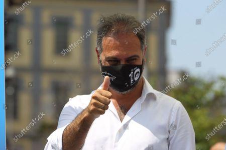 Editorial picture of Matteo Salvini in Naples, Italy - 22 Jul 2021