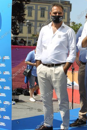 Matteo Salvini in Naples . The leader of the LEGA NORD ,for an political kermesse.In pictures Catello Maresca candidate for mayor of Naples
