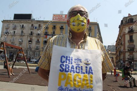 Matteo Salvini in Naples . The leader of the LEGA NORD ,for an political kermesse.In pictures supporter of  the LEGA NORD