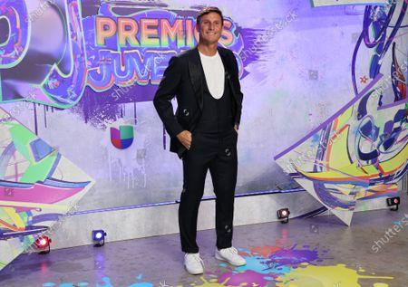 Javier Zanetti arrives at the 2021 Univision's Premios Juventud awards show at the University of Miami, Watsco Center,, Miami, Florida