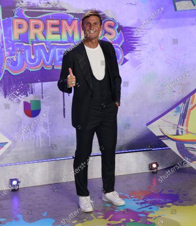 Stock Image of Javier Zanetti arrives at the 2021 Univision's Premios Juventud awards show at the University of Miami, Watsco Center,, Miami, Florida