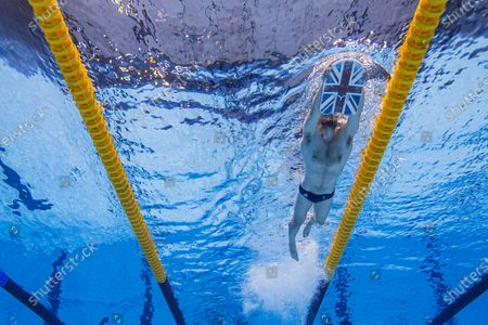 James Guy of Great Britain is pictured during a training session prior to the start of the Swimming events of the Tokyo 2020 Olympic Games at the Tokyo Aquatics Centre in Tokyo, Japan, 23 July 2021.
