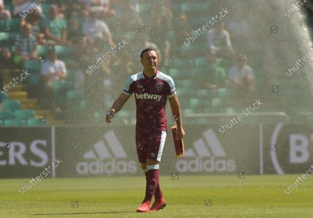 Mark Noble of West Ham United just prior to kick off