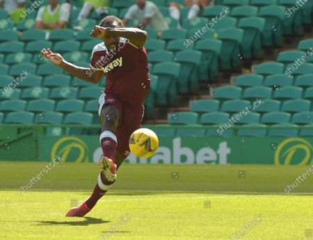 Michail Antonio of West Ham United in action