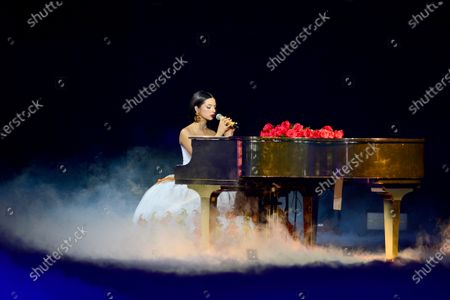 Stock Photo of Angela Aguilar performs onstage