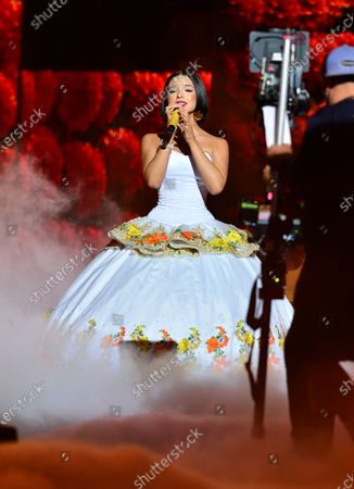 Stock Picture of Angela Aguilar performs onstage
