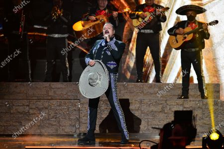 Stock Image of Pepe Aguilar performs onstage