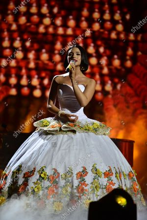 Angela Aguilar performs onstage