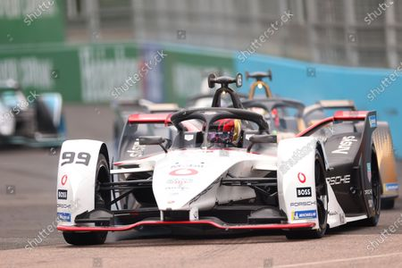 Pascal Wehrlein of Germany driving for (99) TAG Heuer Porsche during race 1 event; Excel Circuit, Docklands, London, England; Formula E London E Prix.