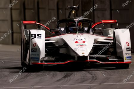 Pascal Wehrlein of Germany driving for (99) TAG Heuer Porsche during first practice for the race 2 event; Excel Circuit, Docklands, London, England; Formula E London E Prix.